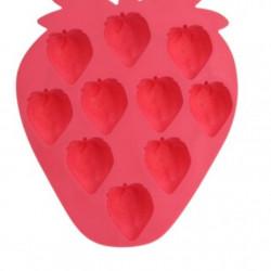 Forma pentu gheata Strawberry, 19x16x2 cm, termoplas, rosu