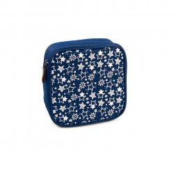 Geanta termoizolanta pentru sandwich Fun, Iris Barcelona, 16.5x16.5x5 cm, poliester, albastru