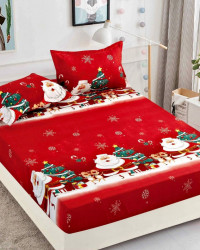 Husa de Pat cu Elastic si 2 Fete de Perna pentru Pat Dublu, Christmas Presents, HBFC 12