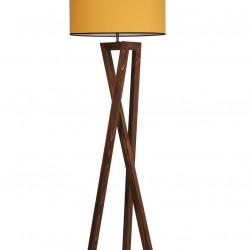 Lampadar, Luin, 8278-2, E27, 60 W, lemn/textil