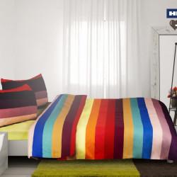 Lenjerie de pat dubla Alice, Heinner, 4 piese, 220x240 cm, bumbac, multicolor