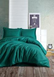 Lenjerie de pat dubla Elegant - Petrol Green, Cotton Box, 4 piese, bumbac satinat, verde