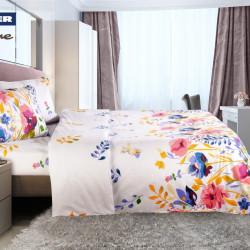 Lenjerie de pat dubla Serenity, Heinner Home, 4 piese, 220 x 240 cm, 100% bumbac, multicolora