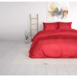 Lenjerie de pat pentru doua persoane, Beauty Skin Care Red, Royal Textile, 3 piese, percal, rosu
