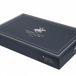 Lenjerie de pat pentru o persoana BHPC 002 - Red, 100% bumbac ranforce, Beverly Hills Polo Club, multicolor
