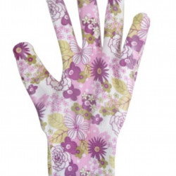 Manusi pentru gradinarit Flower, M, poliester, mov