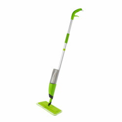 Mop cu rezervor si pulverizator Wet Wenko, 128 cm, aluminiu/plastic/poliester, verde
