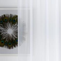 Perdea Imagine, Voal simplu, 140x245 cm, poliester, alb