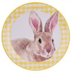 Platou pentru servire Bunny, Ø20 cm, dolomit, galben
