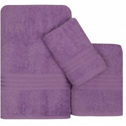 Set 3 prosoape de baie, 100% bumbac, Hobby, lila