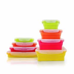 Set 4 cutii alimentare Jocca din silicon