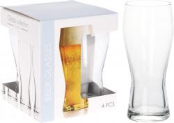 Set 4 pahare de bere Profile, 400 ml, sticla
