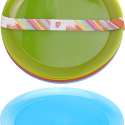 Set 6 farfurii Shiny, Ø21 cm, polipropilena, multicolor