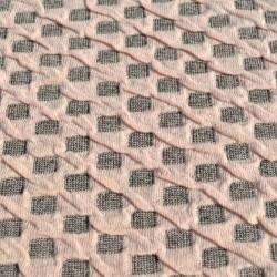 Set Huse Elastice Bicolore - Canapea 3 Persoane + 2 Fotolii - Roz Pal si Gri - Pudra