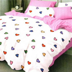 Set Lenjerie de Pat Finet Satinat, 6 Piese, Cute Love, FN-C267