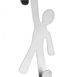 Suport prosoape cu montare pe usa Boy, Wenko, 8 x 15 cm, inox, argintiu