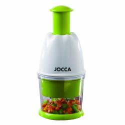 Tocatorul manual pentru fructe si legume Jocca, 10.5 x 20 cm, plastic/inox, verde/alb