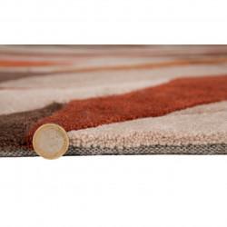 Covor Infinite Splinter Orange, Flair Rugs, 120 x 170 cm, 100% poliester, portocaliu/bej