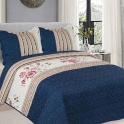 Cuvertura de pat + 2 Fete de Perne, Bumbac Tip Finet, Imprimata, Pat 2 persoane, CFI-80