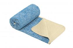 Cuvertura matlasata cu 2 fete Alcam, microfibra, 210x220 cm, Blue Jeans