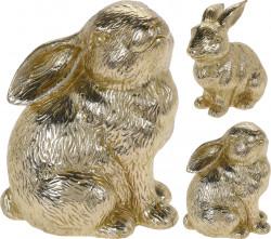 Decoratiune Rabbit, 12x8x14 cm, ceramica, auriu