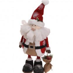 Decoratiune Santa holding gift bag, 25x26x64 cm, polistiren, multicolor