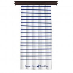 Draperie Beverly Hills Polo Club, Crt 06-2, 140x260, 100% poliester, alb/albastru