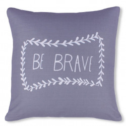 Fata de perna decorativa Be Brave, Fashion Goods, 45x45 cm, poliester, gri