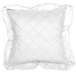 Fata de perna Ruffy Biala, Fashion Goods, 40x40 cm, microfibra, alb