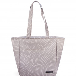 Geanta termoizolanta pentru pranz Shopper Dots, Iris Barcelona, 10 L, 26x15x30 cm, poliester, gri
