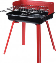Gratar BBQ, 36x31x45 cm, metal, rosu