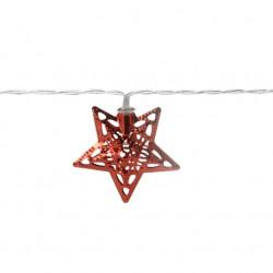 Instalatie Star, 10 LED-uri, 120 + 30 cm, rosu