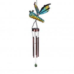 Lampa de gradina cu clopotei Dragonfly , 32x22x100 cm, metal, verde