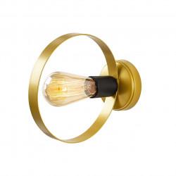 Lampa de perete Opviq Halka, 20x23 cm, E27, 100 W, negru/auriu