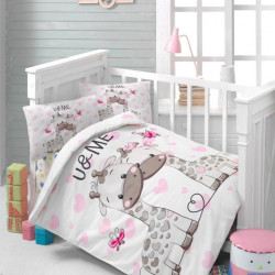 Lenjerie de pat pentru copii, Patik, Sweet, 4 piee, 100% bumbac ranforce, multicolor