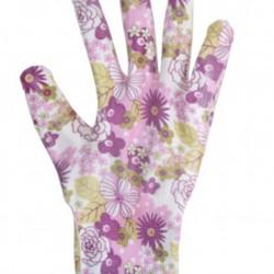 Manusi pentru gradinarit Flower, L, poliester, mov