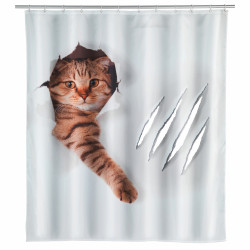 Perdea de dus Cute Cat, Wenko, 180x200 cm, 100% poliester, multicolor