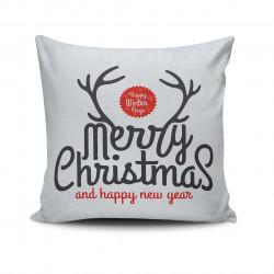 Perna decorativa, Christmas NOELKRLNT-23, 43x43 cm, policoton, multicolor