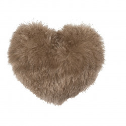 Perna decorativa Heart Fake Fur