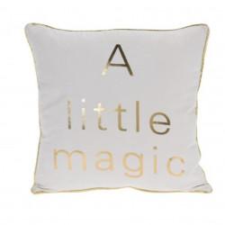 Perna decorativa Magic, 40x40 cm, poliester, alb/auriu