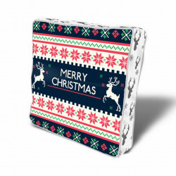 Perna decorativa Merry Christmas w deer, Christmas, 43x43 cm, policoton, multicolor