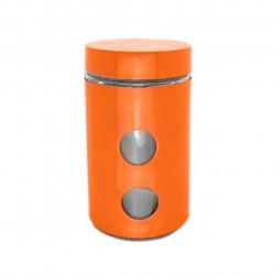 Recipient cu capac Muhler, MR-1406, sticla/inox, 1050 ml, portocaliu