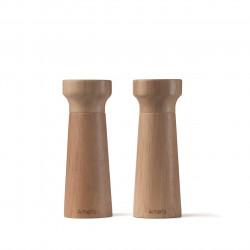 Set 2 rasnite sare/piper, Amefa, Grinder P&S Modern Black, lemn/ceramica