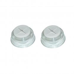 Set 2 suporturi transparente pentru prosoape Jocca, 14 x 15 x 2 cm, polipropilena, argintiu