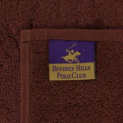 Set 4 prosoape de baie cu cos Beverly Hills Polo Club, 30x30 cm, 100% bumbac, mustar/maro/verde inchis/verde deschis