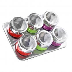 Set 6 recipiente condimente si suport magnetic Luigi Ferrero, FR-1306 CD, 100 ml