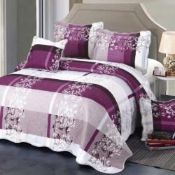Set Cuvertura Bumbac + 4 Fete de Perne, Purple Gradient
