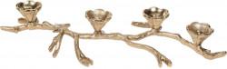 Suport pentru lumanari, 44x20x7.5 cm, metal, auriu