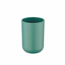 Suport periute si pasta de dinti Brasil Green, Wenko, 7.3 x 10.3 cm, elastomer (TPE), verde