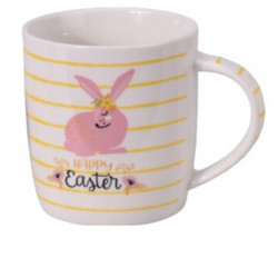 Cana Happy Easter with bunny, 370 ml, portelan, multicolor